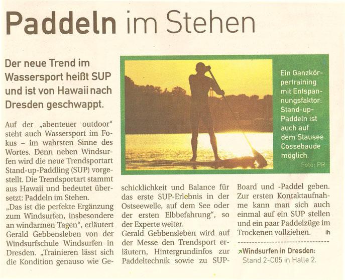 SUP Trendwelle auf der Dresdner Outdoor Messe !
