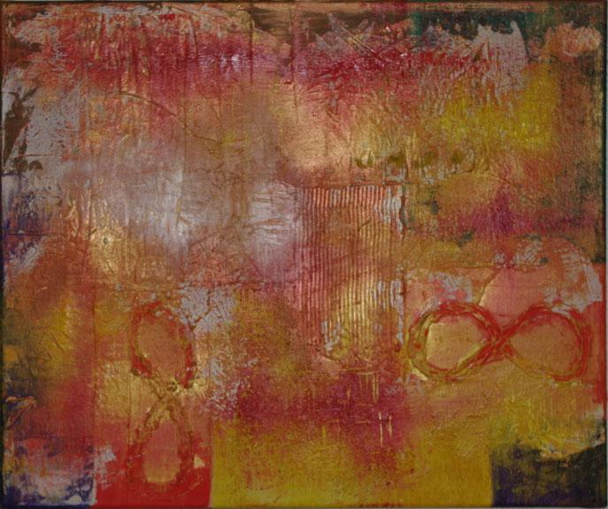 Dreams Öl und Strukturpasten und Sand auf Leinwand  70 x 50 cm