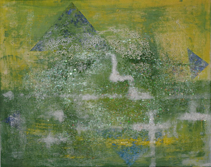 Rausch der Sinne  Acyrl/Öl mit Strukturpasten auf Leinwand   40 x 50 cm