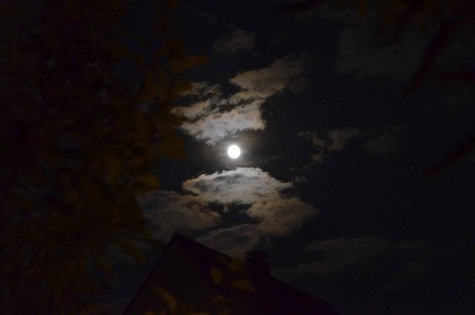 Mond über der Siedlung Freiheit