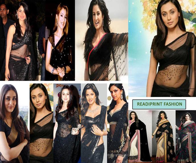 Bollywood Actress with Black Saree