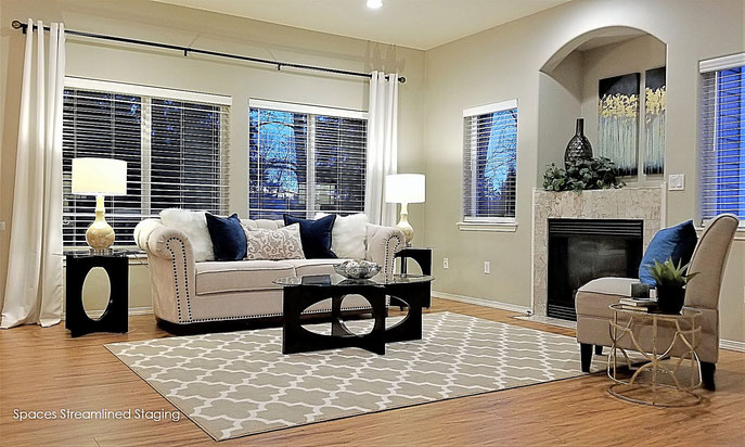 Staged Living and Dining Room