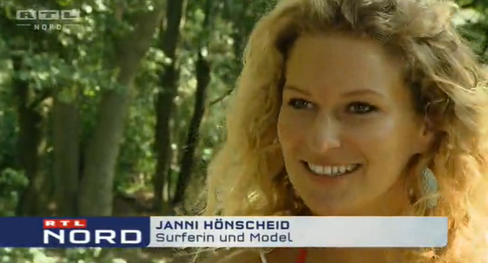 Janni got filmed by RTL while on Sylt