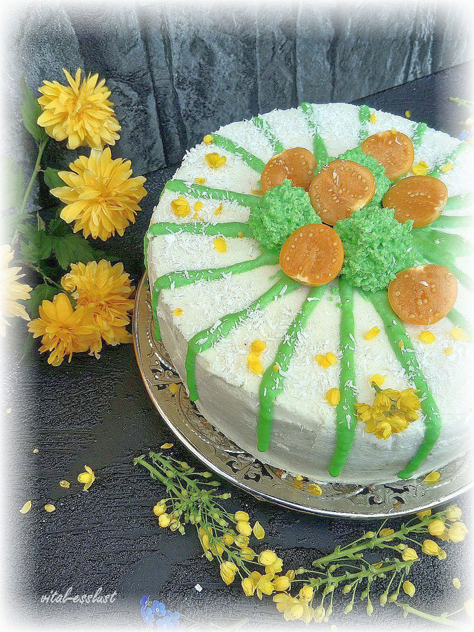 Ostern Torten gelbe Blumen