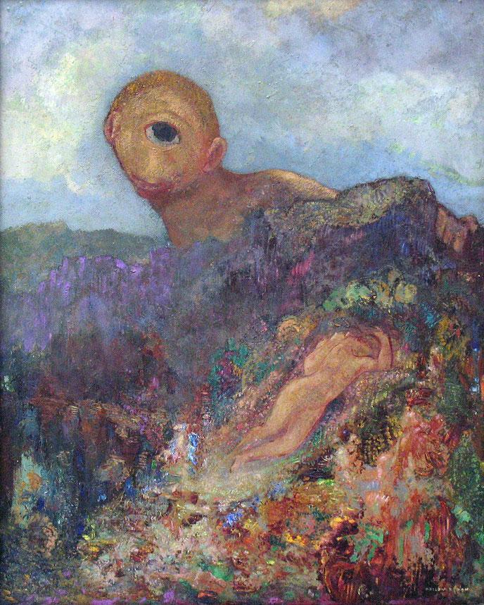 オディロン・ルドン「キュクロプス」(1898-1900)