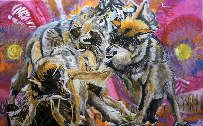 Wolfpack, 160 x 100 cm, oil on canvas