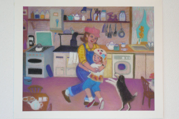 Today is the day with Grandma 42.5cmx52.5cm (sold)