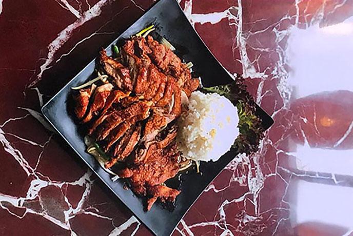 Sakura Ente mit Reis
