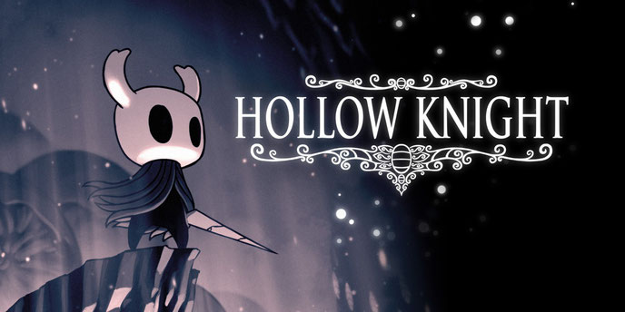 Hollow Knight, Team Cherry, Switch, Nindie, Unity, Metroidvania, Hallownest, Stachel, Geo, Maske, Seelen, Fokus, Schatten, Stag, Cornifier, Dirtmouth, Radiance, Motten, Mantis Lord, False Knight, Kickstarter, Hidden Dreams, Grimm Troupe, Gods & Glory