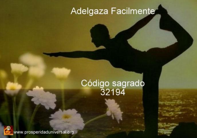 ADELGAZA FÁCILMENTE - CÓDIGO SAGRADO 32194 - EJERCITACIÓN GUIADA DE ACTIVACIÓN - PROSPERIDAD UNIVERSAL