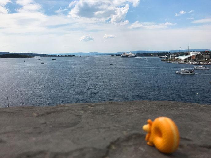 お城から見たオスロの海_ウォリス