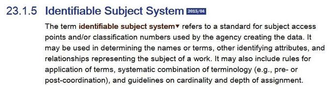 Screenshot von RDA 23.1.5 aus dem RDA Toolkit (www.rdatoolkit.org), verwendet mit Genehmigung der RDA-Verleger (American Library Association, Canadian Library Association und CILIP)