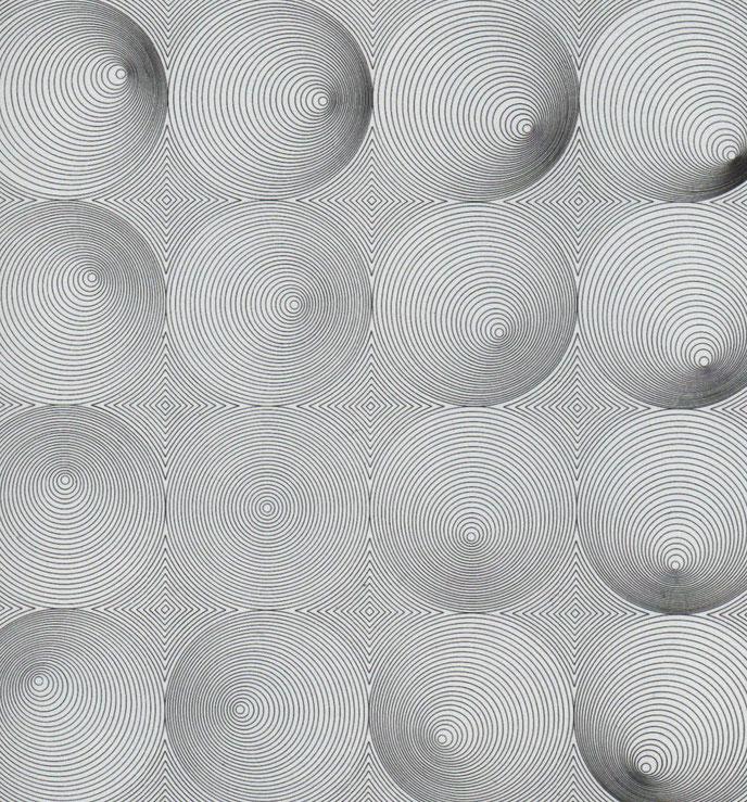 visuelle Konstruktion 1960/1967,  60,8x60,9 cm