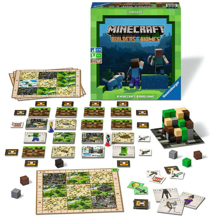 Minecraft Builders & Biomes - Spielmaterial