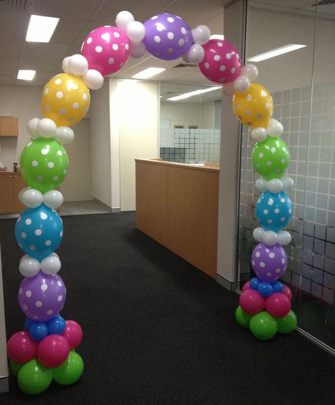 arco de globos bipolo con helio