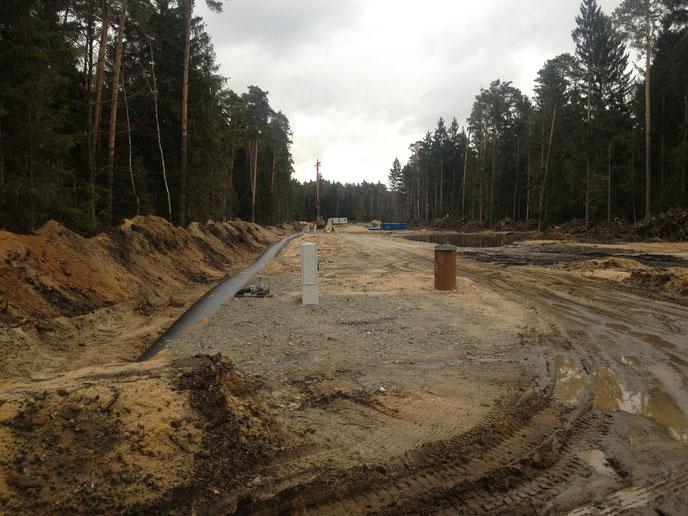 Entwässerungsschneisen im Urwald Weißwasser