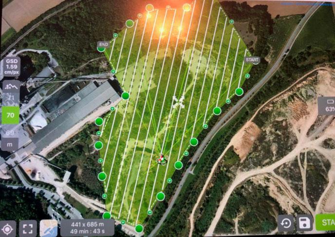 Automatisierte Flugplanung / 3D Scanning über weitläufiges und unwegsames Gelände