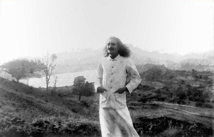 Meher Baba in Bhandardara, Maharashtra, India, in 1933. Courtesy of Elizabeth Patterson Photo Archive & LSLP