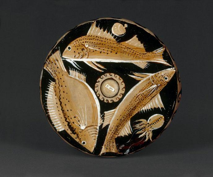 Fischplatte aus Ton British Museum