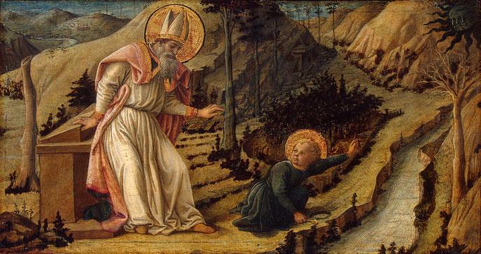 """Filippino Lippi, """"Visione di Sant'Agostino"""" (1452-1465)"""