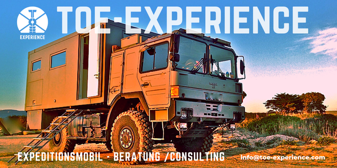 Self-Sufficient Expedition Vehicle robuste Expeditionsmobile stabile Expeditionsfahrzeuge Ratschlag beratung berater Allrad Wohnmobile Off-Road Adventure Trucks Travel Overland Expedition Messe Messen Präsentation Abenteuer Allrad Abenteuer Expo