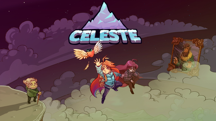 celeste, meat boy, platformer, jump, run, Berg, tower fall, madeline, theo, dash, switch, matt makes games, b-side, erdbeere, feder