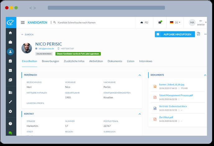 Bewerbermanagement Software - PLUSpoint HR
