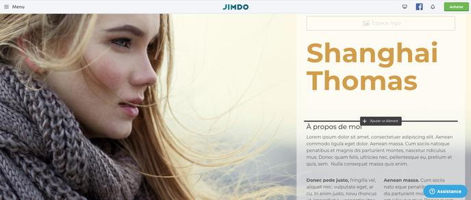 Insérer un élément dans un site Jimdo