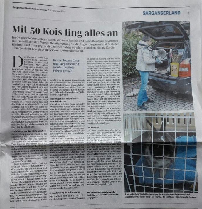 Sarganserländder 23. Februar 2017