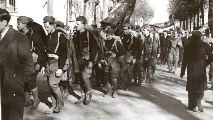 Enhed af de Internationale Brigader i Barcelona