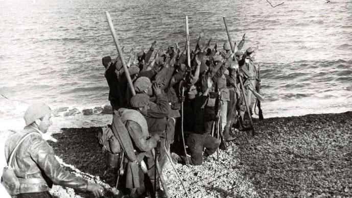 Franco-tropper i offensiv i provinsen Aragón i det nordlige Spanien