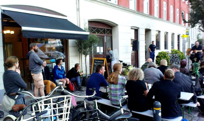 Støttekoncert for anarkistisk bogcafé på Halmtorvet, d. 1. september 2016