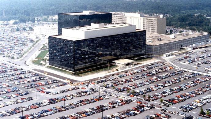 NSAs hovedkvarter ved 'Fort Meade' i den amerikanske forbundsstat Maryland