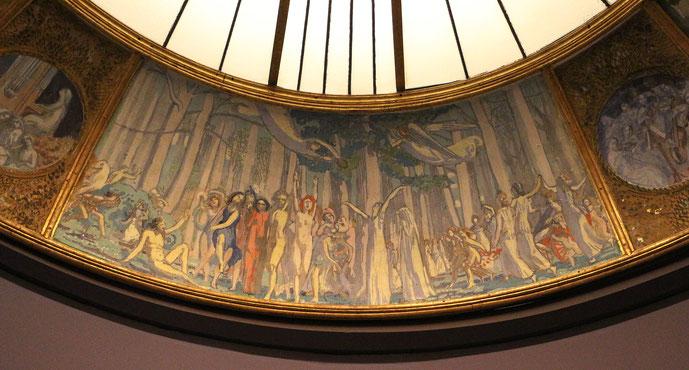 パリ、シャンゼリゼ劇場の天井壁画。1908-1911年