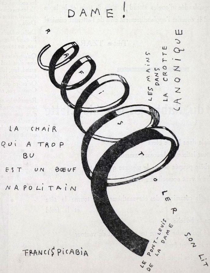 フランシス・ピカビア『DAME!』(1920年)
