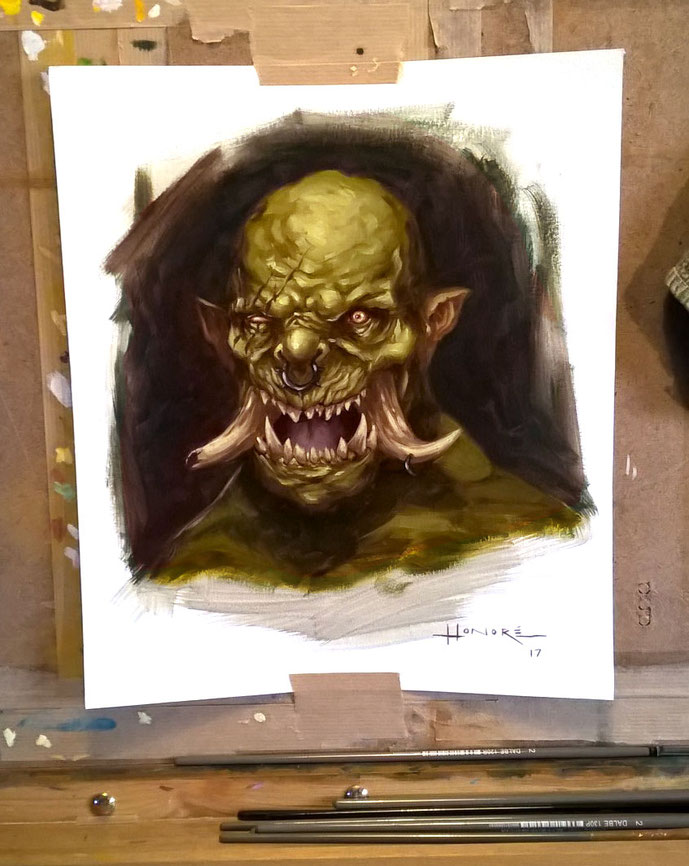 Orc, oil painting, ©Alexandre Honoré art.com