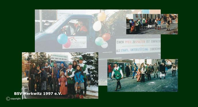 Karnevalsumzug in Trebitz 2001 - BSV Merkwitz 1997 e.V.