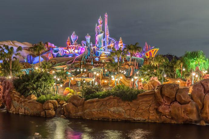 ディズニーシーの夜景