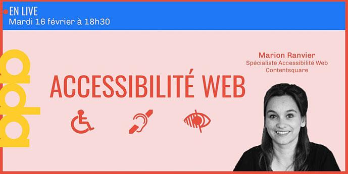 Image événement accessibilité web par Marion Ranvier de Contentsquare