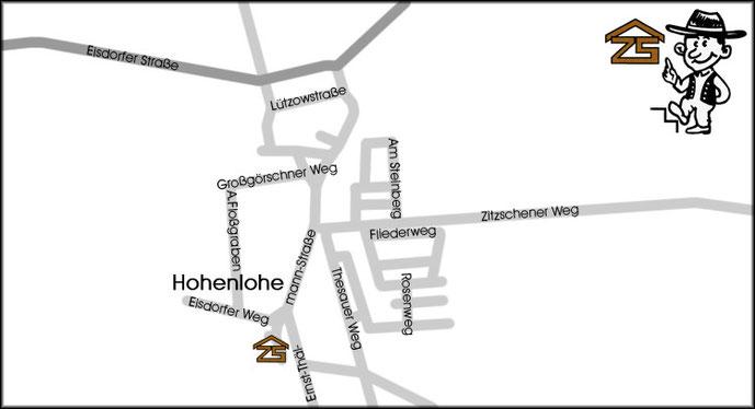 Anfahrtsplan Kitzen