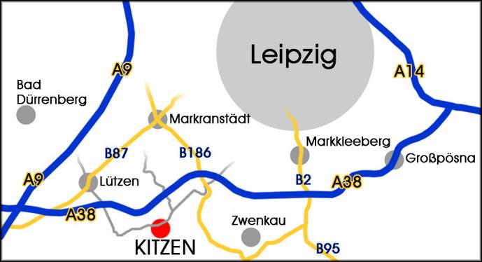 Anfahrtsplan Leipziger Umland