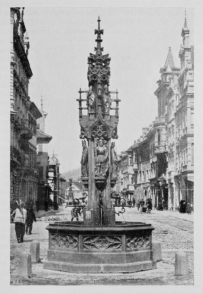 Fischbrunnen in Freiburg im Breisgau 1898