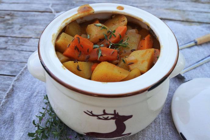 Kartoffel-Kürbis-Gulasch