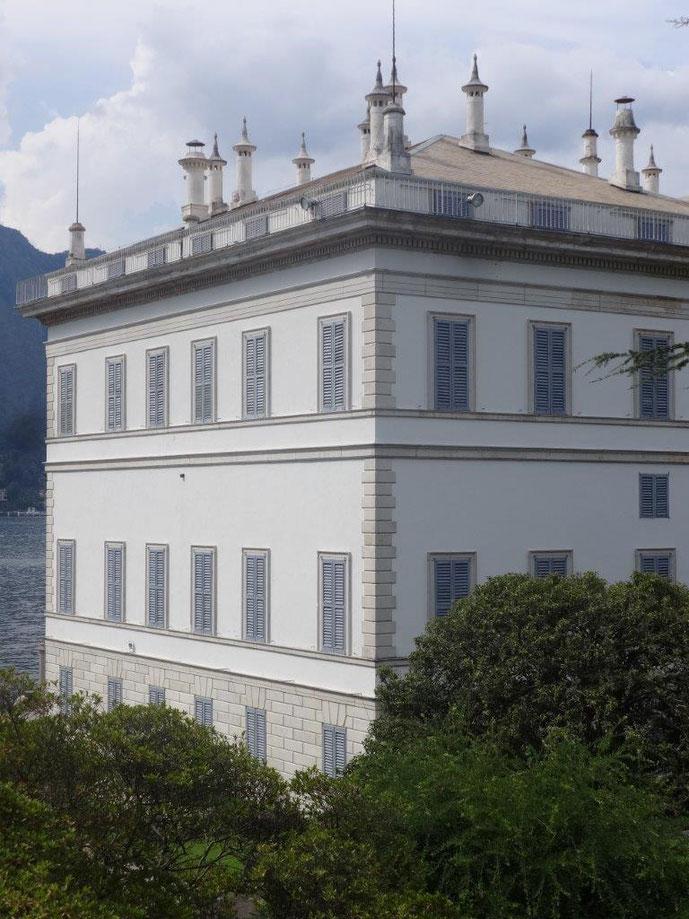 Villa Melzi in der Sonne Nahaufnahme