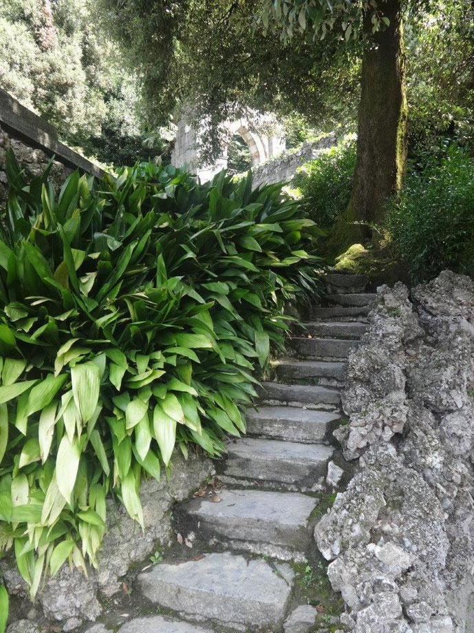 Treppenanlage Comer See Villa Melzi