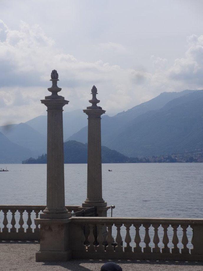 Bootsanlegestelle Comer See Bellagio Villa Melzi