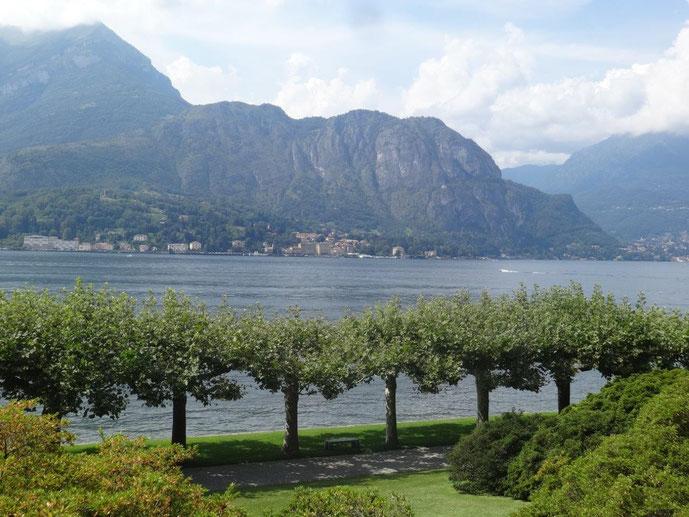 Blick Comer See Park Villa Melzi Giardini die Villa Melzi Platanen Allee