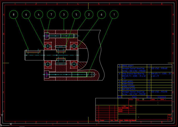 CADCIL AutoCAD Mechanical 図面レイアウト