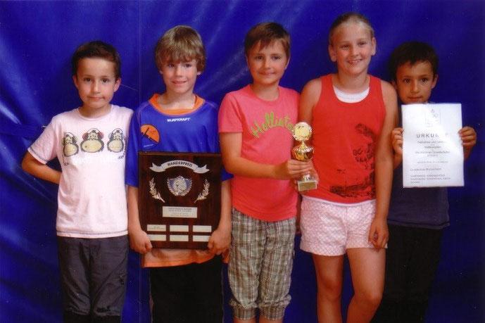 Foto: von links nach rechts: Levi Ammann, André Reder, Elisa Tietz, Sophia Panella, Jakob Ammann