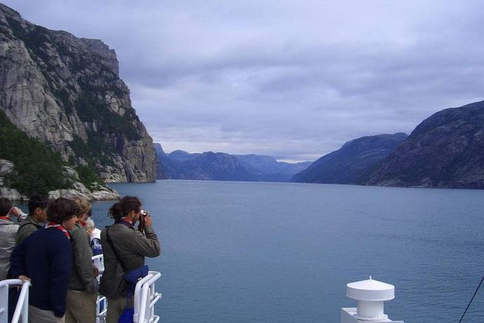 Der Herrliche Blick in den Lysefjord